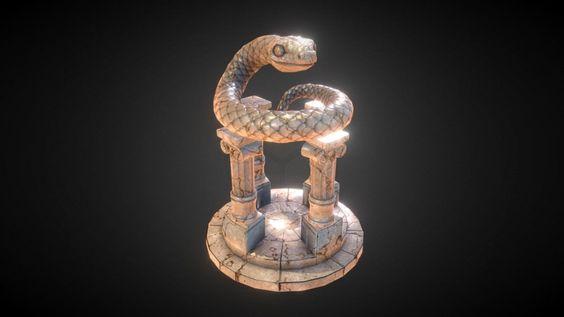 Snake Statue by Ville Seppänen