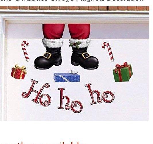 Merry Christmas Collections Etc Santas Sleigh Garage Door Magnets Outdoor Decoration