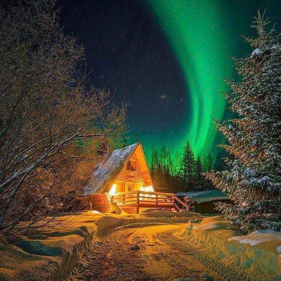 Northern Lights over  #Alaska  Photo by @alaska.photography Explore. Share. Inspire:  #EarthFocus
