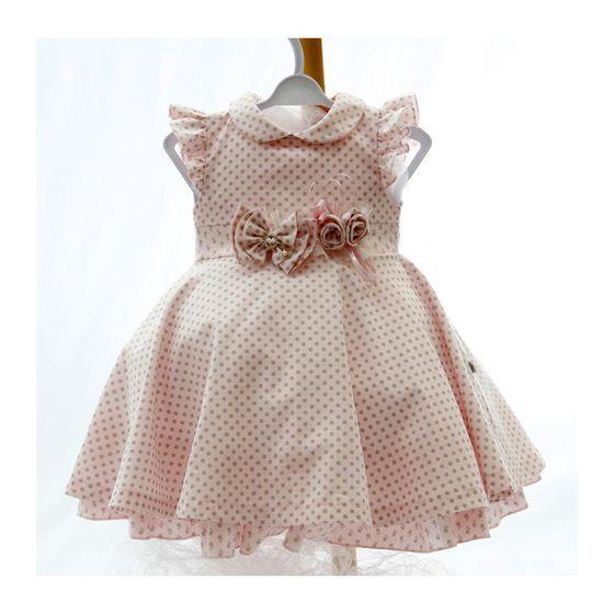 Vestido Alicia Rosa Beth Bebê Rosa