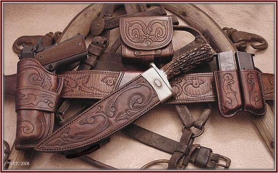 "The wild bunch;  I don't think I'd do ""western"" tooling as much, but a very nice looking set!"