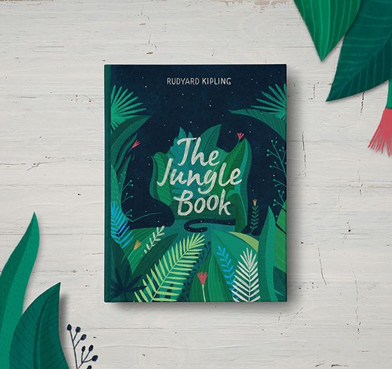 The Jungle Book cover by Anastasia Stefurak #editorial #design #book: