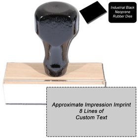 #8 #Line Black #Neoprene Regular #Rubber Stamp. Find the 8 Line Regular Rubber Stamps at Acorn Sales. It is a traditional hand rubber stamp that holds up to 8 lines of text. Visit and order now!