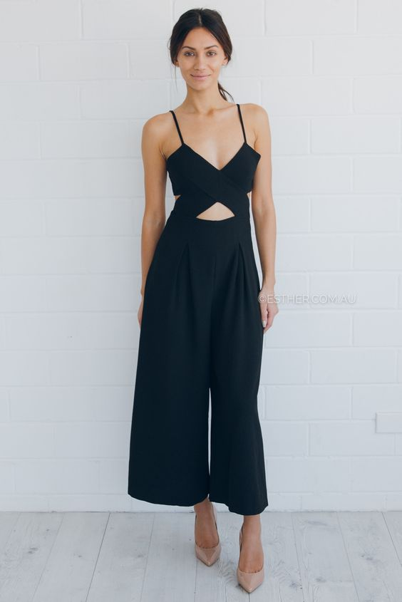 zara jumpsuit - black