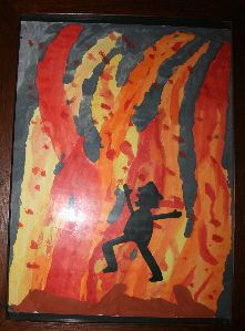 Rumpelstilzchen tanzt ums Feuer