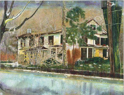 Peter Doig, Maison de pin (chambres à louer) (1994). Avec l ...