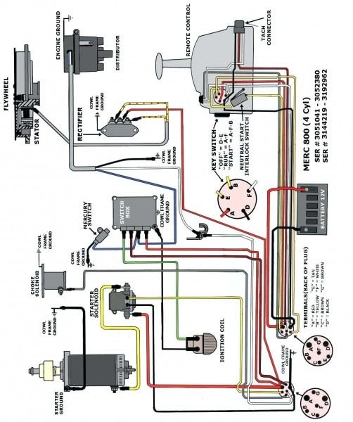 mercury switch box wiring diagram  mercury outboard