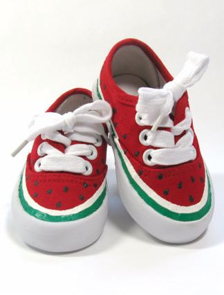 adorable little watermelon sneakers