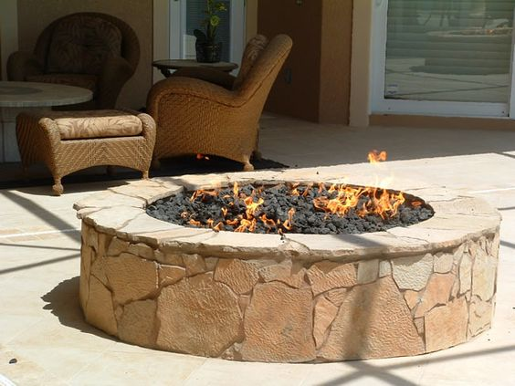rock fire pit - Bing Images