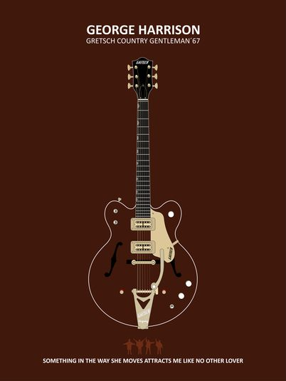 GEORGE HARRISON GUITAR - BEATLES » Leo Romeu
