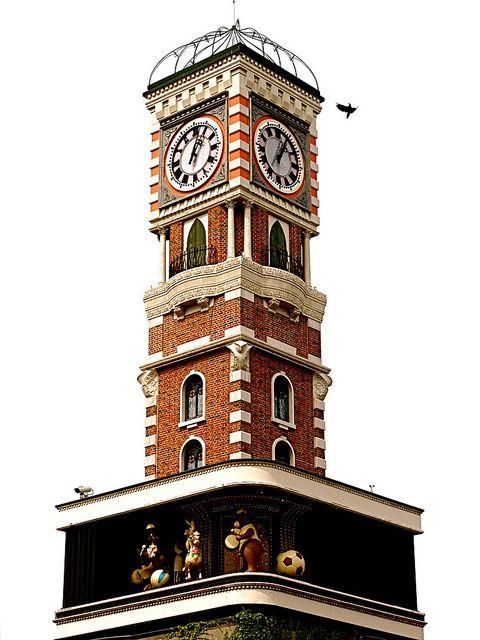 "Clock 時計, Clock Tower of ""The Chocolate Factory"", Shiroi Koibito Park Sapporo Hokkaido Japan by Arjan Richter, via Flickr"