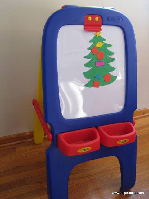 Sugar Aunts: Christmas Tree Sensory play