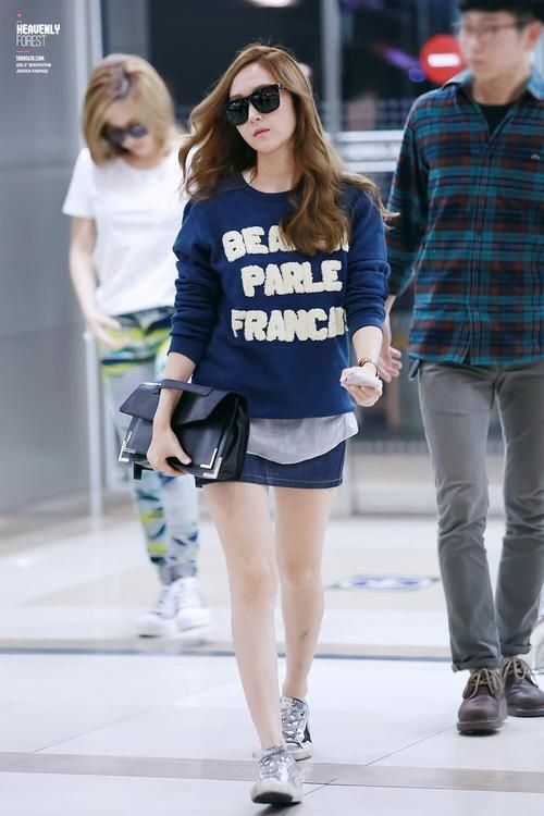 Snsd Jessica Korean Stars Airport Fashion Casual Style Pinterest Style Jessica Jung
