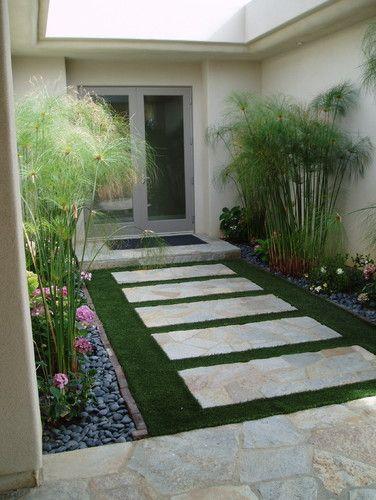 Artificial grass/xeriscape: