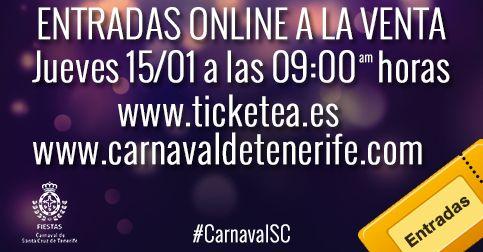 Grupo Mascarada Carnaval: Fiestas pone hoy a la venta por internet las entra...