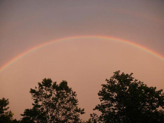 Rainbow earlier this evening — at Princeton, NJ