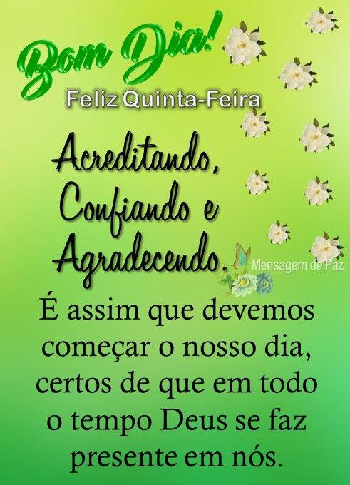 Bom Dia Feliz Quinta Feira Com Imagens Feliz Quinta Feliz