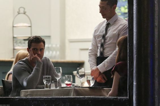 Jamie Dornan and Dakota Johnson films Fifty Shades Darker on March, 16