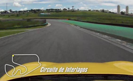 """Autódromo de interlagos """"inside"""", com Ferrari F430"""