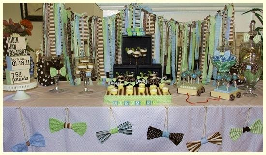 pretty i see: {Pretty I See's Own} Bow Tie Dessert Table Fit For A Cutie