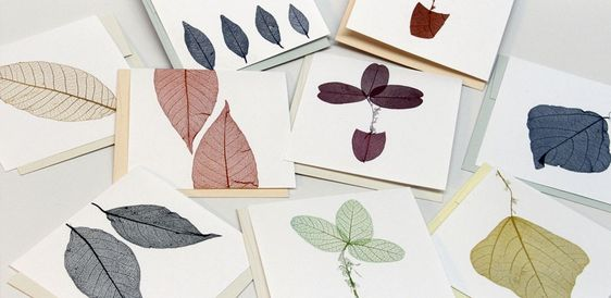 cartão folha seca artesanato - Pesquisa Google