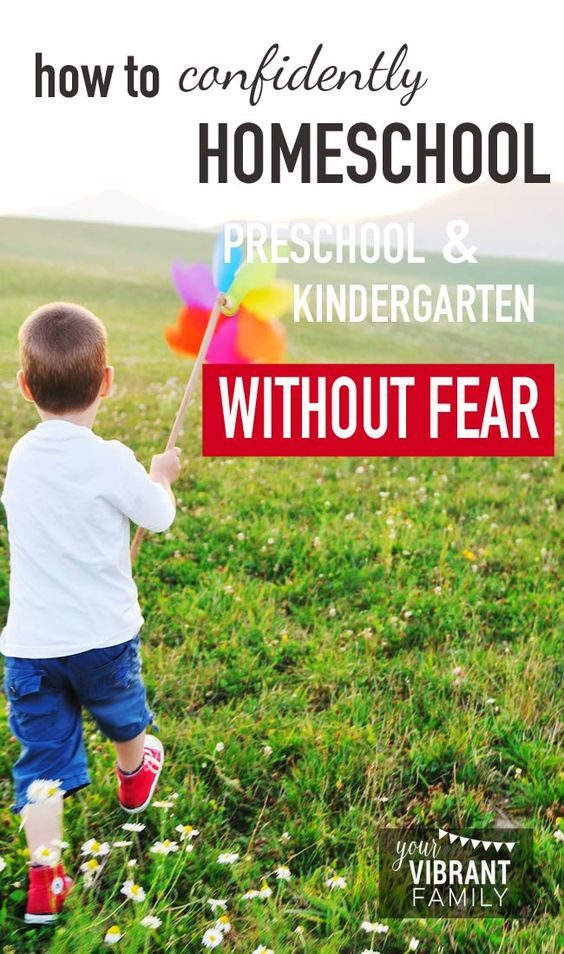 Are you intimidated by the idea of teaching your preschooler or kindergartner? That's TOTALLY NORMAL! SO many of us are scared and overwhelmed by homeschooling this age group. Love this mom's suggestions for how to find the peace, freedom (and confidence) to homeschool preschool and kindergarten well (and have FUN too)!