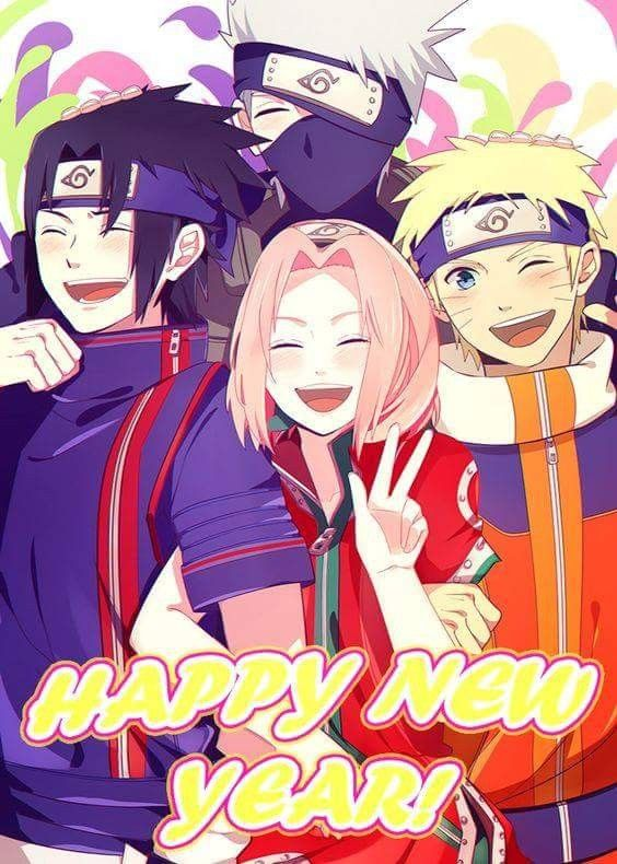 Team 7 Wishes You A Happy New Year Naruto Sasuke Sakura