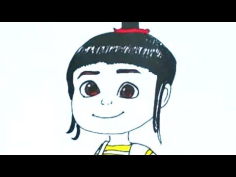 How To Draw Simple Agnes Despicable Me Movie رسم بسيط أجنيس كرتون Youtube Cool Drawings Drawings Agnes Despicable Me