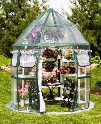 A small backyard dome greenhouse kit, the perfect starter greenhouse. #greenhouses: