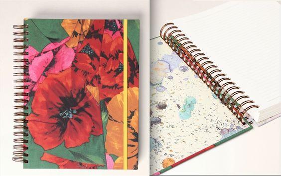 Caderno estampado