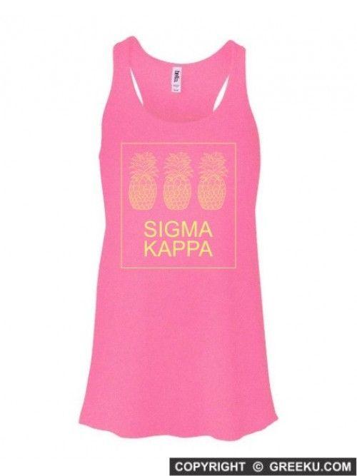 Sigma+Kappa+Three+Pineapples+Flowy+Racerback+Tank