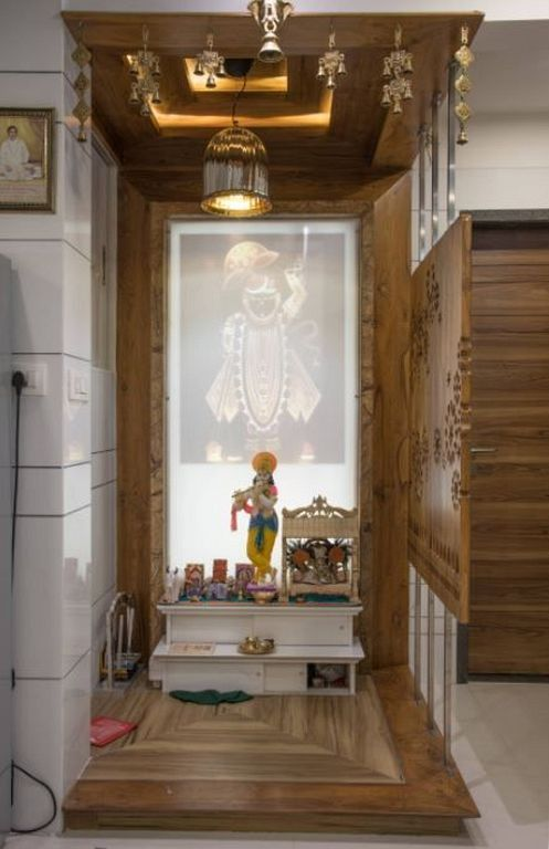 20+ Interior Design Ideas for Pooja Room Wall Units in Your ...