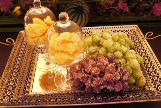 Uvas Glaceadas e Parmesão