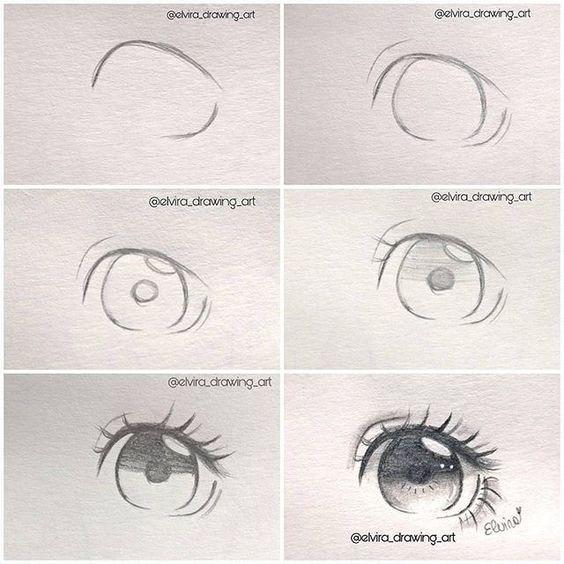 Drawings And Sketching Dibujos De Ojos Dibujar Ojos De Anime Como Dibujar Ojos Anime