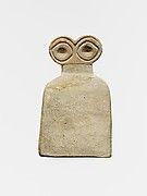 Periodo: Uruk Medio Fecha: ca. 3700-3500 aC Geografía: Siria, Tell Brak Medio: Yeso de alabastro Dimensiones:. 2 1/8 in (5,4 cm) Clasificación: Piedra Escultura
