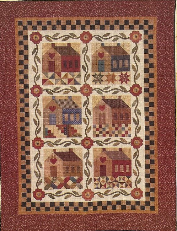 Folk Art Quilt Ideas : Primitive Folk Art Quilt Pattern PATCHWORK by PrimFolkArtShop, USD 12.00 paneles Pinterest ...