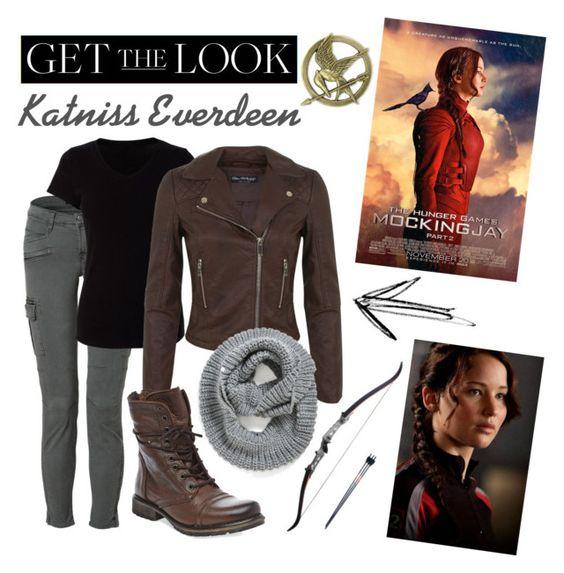 """Get the Look : Katniss Everdeen"" by mathildebounhol on Polyvore featuring J Brand, Miss Selfridge, Steve Madden and Element"