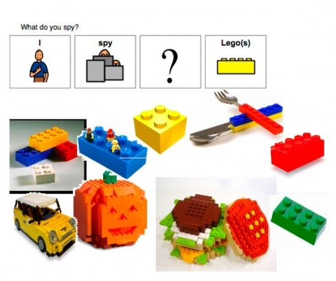 Free!! Printable & ideas for Legos in therapy from elenamarie SLP!