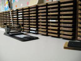 A well organized die-cut machine helps teachers create great bulletin boards.