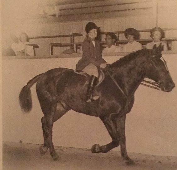 Susan Hutchison winning the Hunt Seat 9 & Under Class at the Santa Barbara Children's Show in 1963.