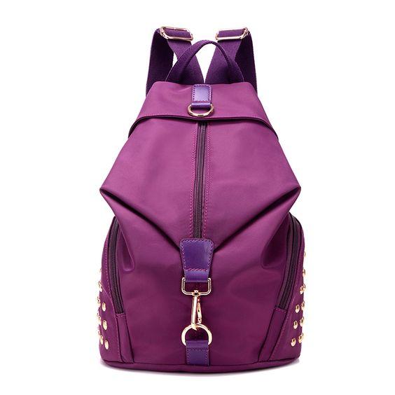 $34.90 (Buy here: https://alitems.com/g/1e8d114494ebda23ff8b16525dc3e8/?i=5&ulp=https%3A%2F%2Fwww.aliexpress.com%2Fitem%2FWomen-Backpack-School-Bags-For-Teenage-Girls-Female-Bag-Nylon-Casual-Rivet-Waterproof-Backpacks-2016-Mochila%2F32678084046.html ) Women Backpack School Bags For Teenage Girls Female Bag Nylon Casual Rivet Waterproof  Backpacks 2016 Mochila Sac A Dos for just $34.90