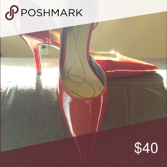 Red patent Anne Klein heels Worn once for about an hour! Excellent condition!!! Size 7.5. Do not have original box. Anne Klein Shoes Heels