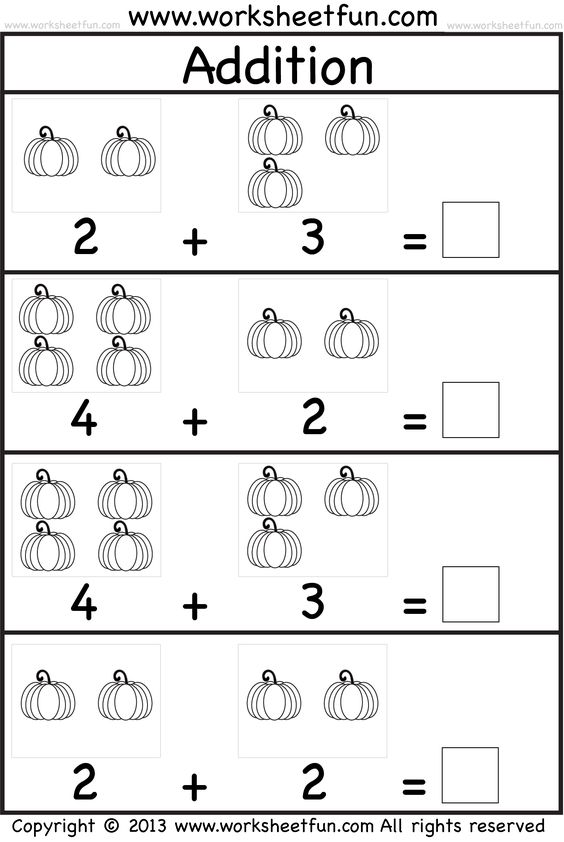 This resource contains kindergarten addition and subtraction ...