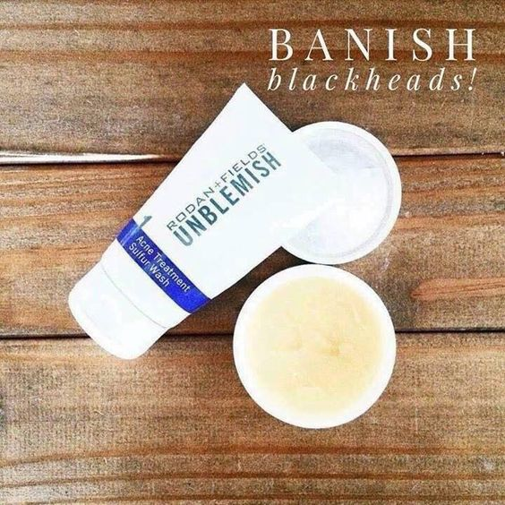 Rodan + Fields Unblemish Regimen is for acne and post acne marks. Add Enhancements Micro-Dermabrasion Paste to banish blackheads. Message me on pinterest @ R+Fskincare101.