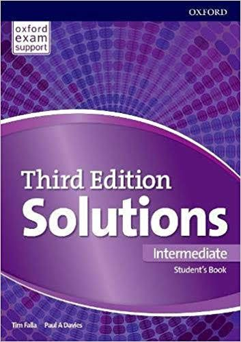 Pdf 4cd Oxford Solutions Intermediate Student S Book 3rd Edition Student Workbook English Book