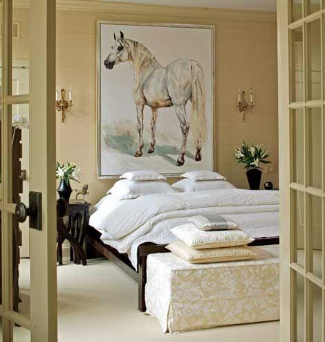 bali furniture....huge horse painting...love it