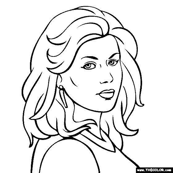 Kelly Clarkson Coloring Pages Online Coloring Pages Color