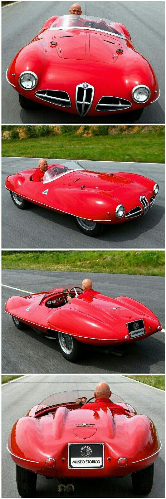 Red 1952 Alfa Romeo 1900 C52 Disco Volante Print