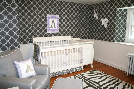 We love this bold nursery with animal accents by @Jack and Jill Interiors! #nursery