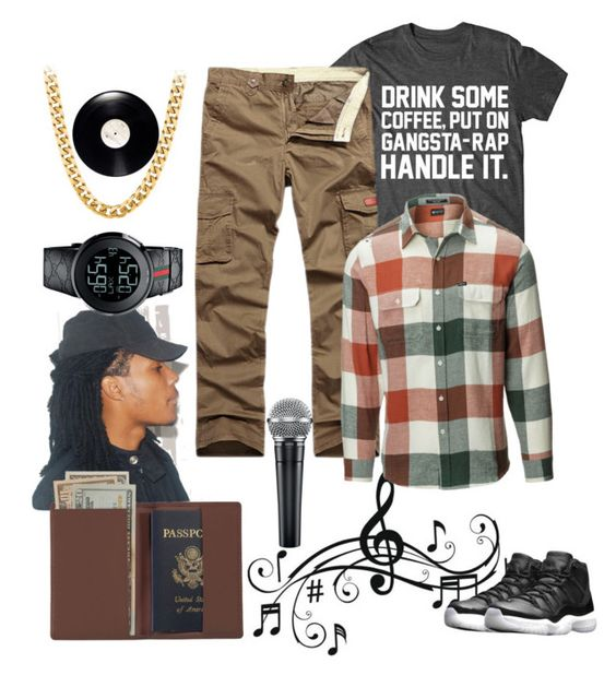 """Freddo"" by sunnyskiesandcloudydays on Polyvore featuring Music Notes, Matix, Gucci, Royce Leather, NIKE, men's fashion and menswear"